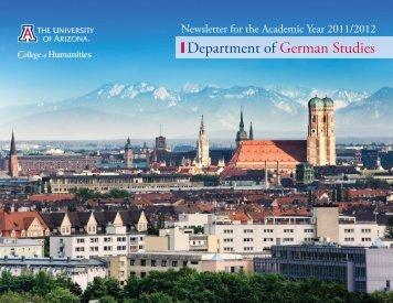 Department of German Studies Newsletter 2011/2012