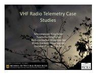 Telemetry Case Studies -- Kesler - Animal Migration Research Group