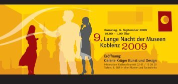 9.Lange Nacht der Museen Koblenz 2009 - konnect.de