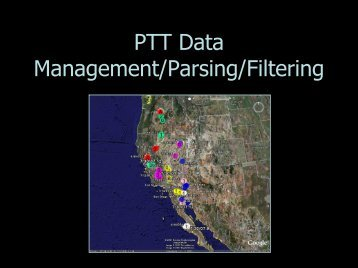 PTT Data Filtering Analyses -- Hartman