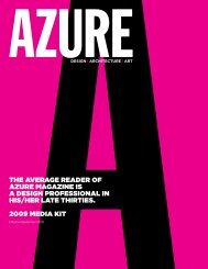 Design I Architecture I Art - Azure Magazine