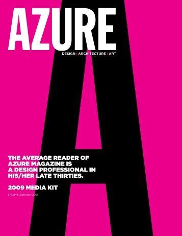 Design I Architecture I Art - Azure Magazine