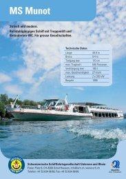 MS Munot - Schweizerische Schiffahrtsgesellschaft Untersee und ...