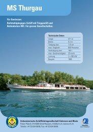 MS Thurgau - Schweizerische Schiffahrtsgesellschaft Untersee und ...
