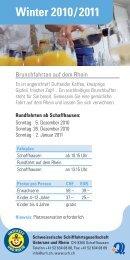 Winter 2010 / 2011 - Schweizerische Schiffahrtsgesellschaft ...