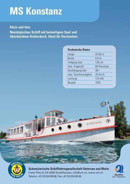 MS Konstanz - Schweizerische Schiffahrtsgesellschaft Untersee und ...