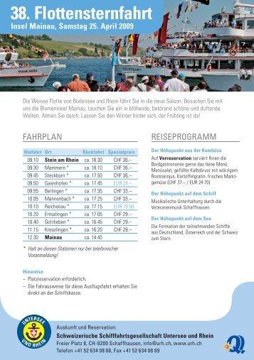 38. Flottensternfahrt - Schweizerische Schiffahrtsgesellschaft ...