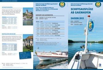 Gaienhofen - Schweizerische Schiffahrtsgesellschaft Untersee und ...