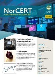 NorCERT kvartalsrapport for 3. kvartal 2011 - NSM - Regjeringen.no