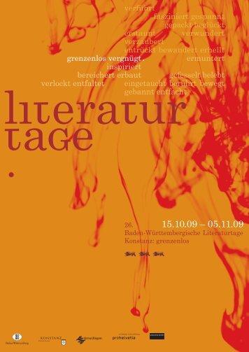 Programm LiteraturfindetStadt - Literaturtage Konstanz