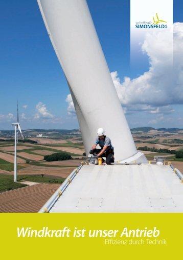 Technikfolder groß - Windkraft Simonsfeld