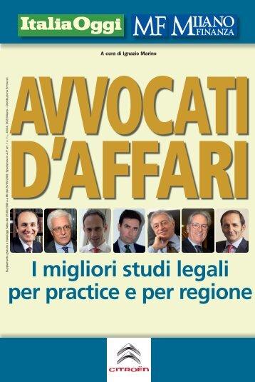I migliori studi legali per practice e per regione - Studio Legale ...