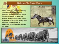 Welcome To Africa Tours