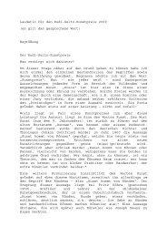 Laudatio für den Rudi-Seitz-Kunstpreis 2009 - Friedrich Wilhelm ...