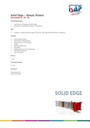 Solid Edge – Simply Motion - ISAP Training - ISAP AG