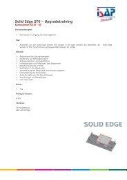 Solid Edge ST6 - Upgradetraining - ISAP Training - ISAP AG