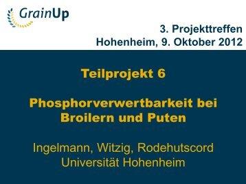 Teilprojekt 6 Phosphorverwertbarkeit bei Broilern und ... - Grain Up