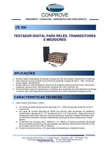 testador digital para relés, transdutores e medidores ce 500 ...