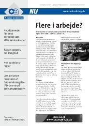 Nr. 1 Januar/februar 2003 - CA a-kasse