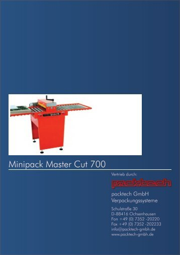 Minipack Master Cut 700 - Packtech-GmbH