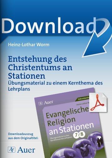 Entstehung des Christentums an Stationen