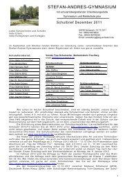 Schulbrief 6 - Stefan-Andres-Gymnasium