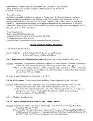 Chinese Buddhist Philosophy - The Institute of Buddhist Studies