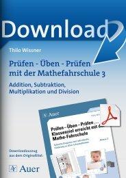 Prüfen – Üben – Prüfen mit der Mathefahrschule 3