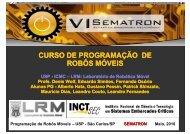 CURSO DE PROGRAMAÇÃO DE ROBÔS MÓVEIS