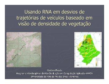 Usando RNA em desvios de trajetórias de veículos baseado em ...