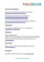 Corporate Publishing - Thilo Baum