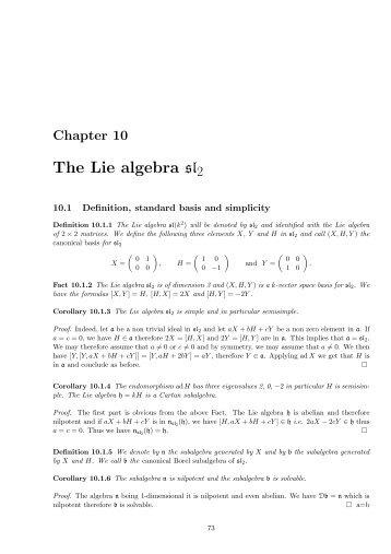 The Lie algebra sl2