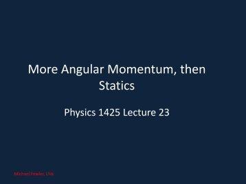 23. Statics - Galileo and Einstein