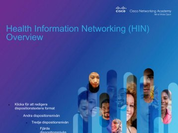 Health Information Networking - Cisco Networking Academy Events