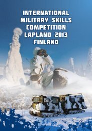 InternatIonal mIlItary skIlls competItIon lapland 2013 FInland - NROF