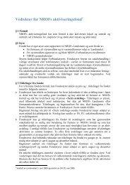 Vedtekter for NROFs aktiviseringsfond