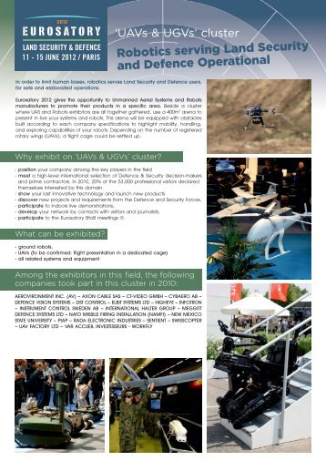 INTERNATIONAL EXHIBITION 11 - Eurosatory