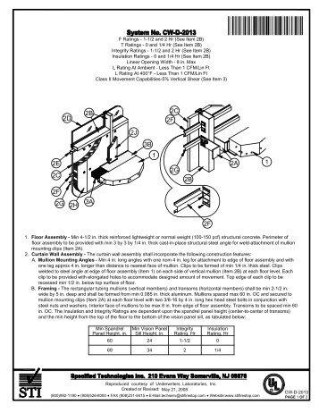 CW-D-2013 - STI - Specified Technologies Inc