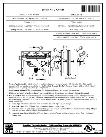 caj8181 - STI - Specified Technologies Inc