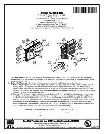 CW-D-2002 - STI - Specified Technologies Inc