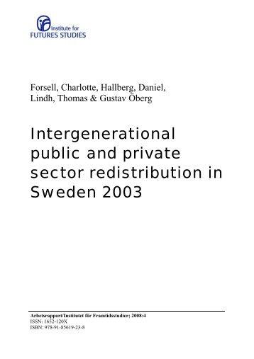 Download Working Paper 2008 no.4 - Institutet för Framtidsstudier