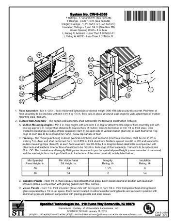 CW-S-2055 - STI - Specified Technologies Inc