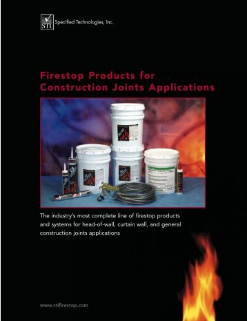 Firestop Products For Construction Joints Applications - DataCom