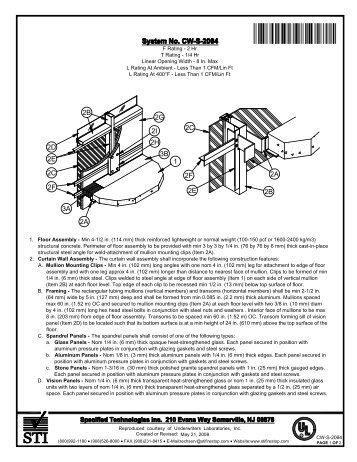 CW-S-2064 - STI - Specified Technologies Inc