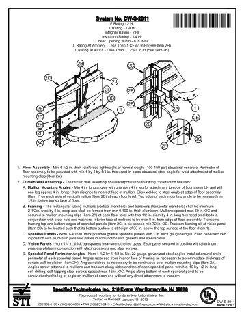 CW-S-2011 - STI - Specified Technologies Inc