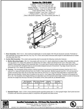CW-D-2033 - STI - Specified Technologies Inc