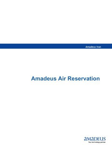 travel agency basic functionality course amadeus rh yumpu com  Class Manual