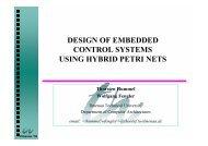 Design of embedded control systems using hybrid ... - TU Ilmenau