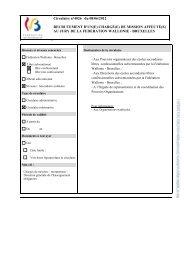 Document PDF - Gallilex - Fédération Wallonie-Bruxelles