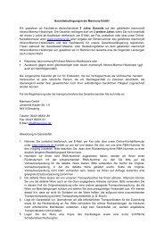 Garantiebedingungen der Marmony GmbH Wir gewähren ab ...
